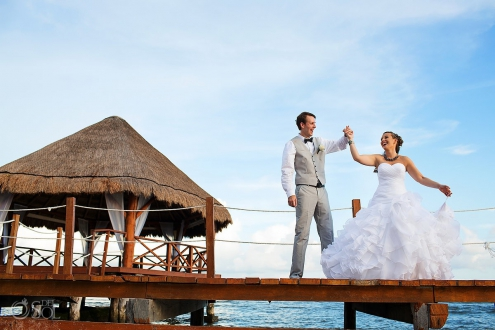 Secrets Silversands riviera cancun wedding photo