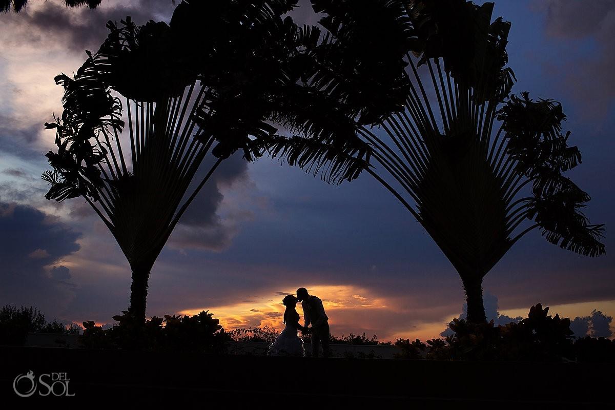 Secrets Silversands riviera cancun bride and groom photo