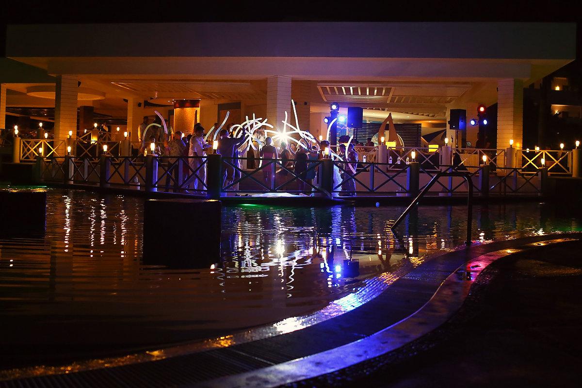Secrets Silversands riviera cancun wedding reception