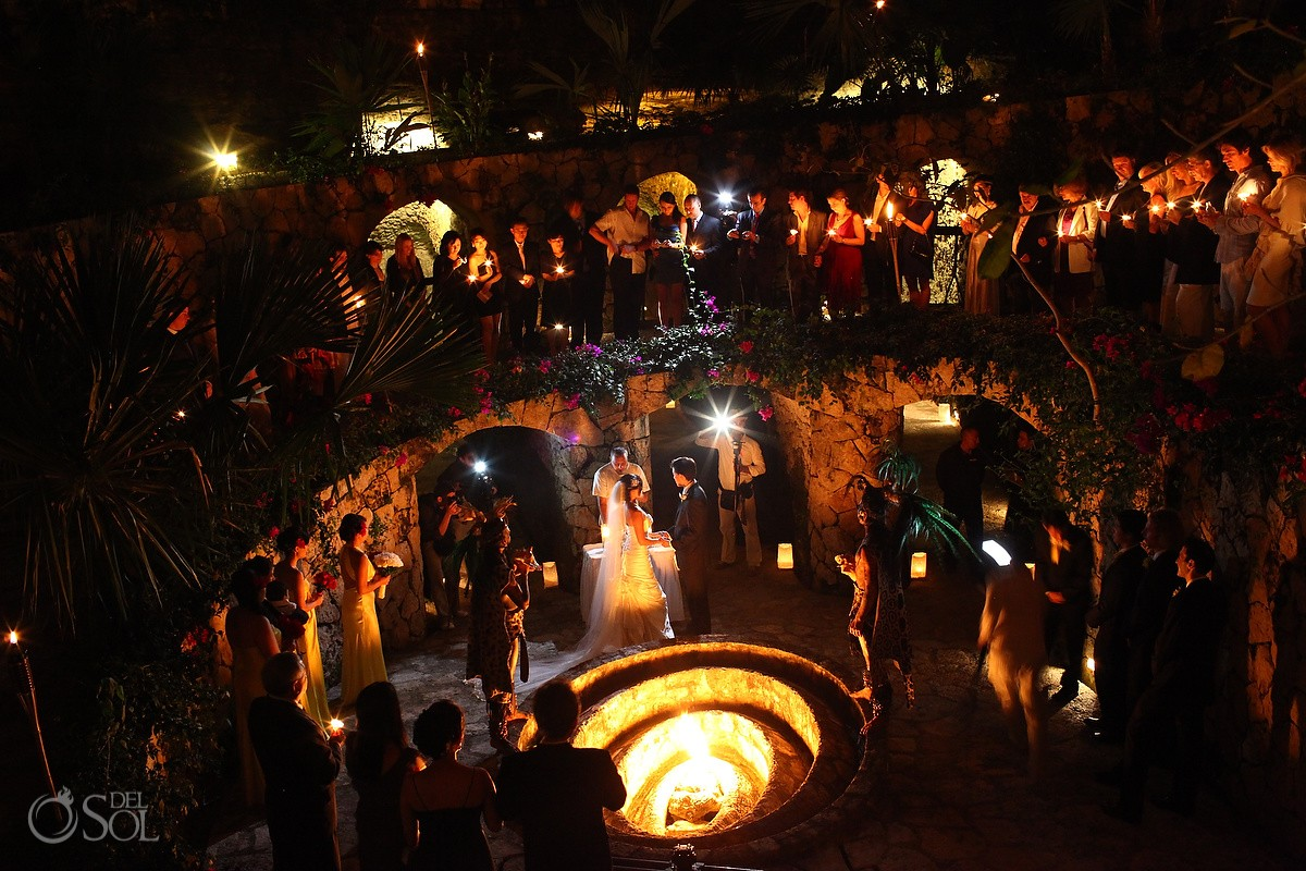 Wedding Ceremony Caracol Xcaret Park Playa del Carmen Mexico