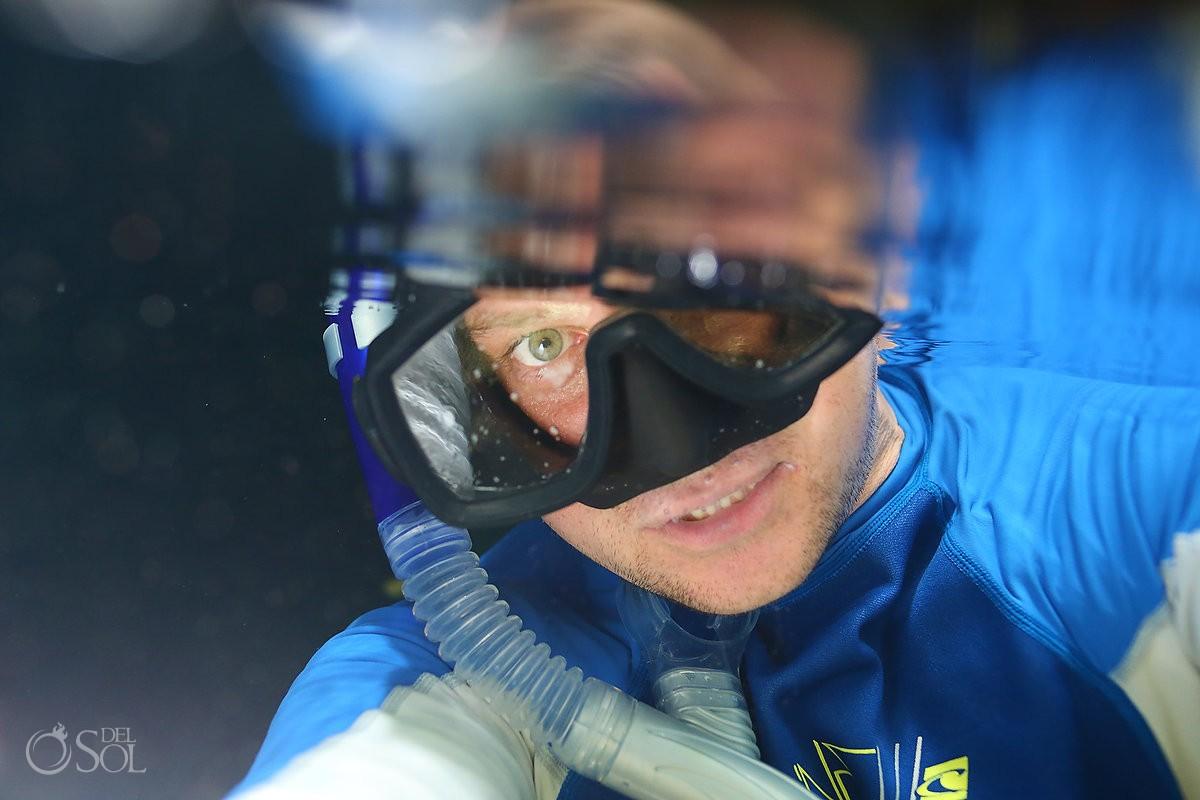Matt Adcock Underwater Selfie