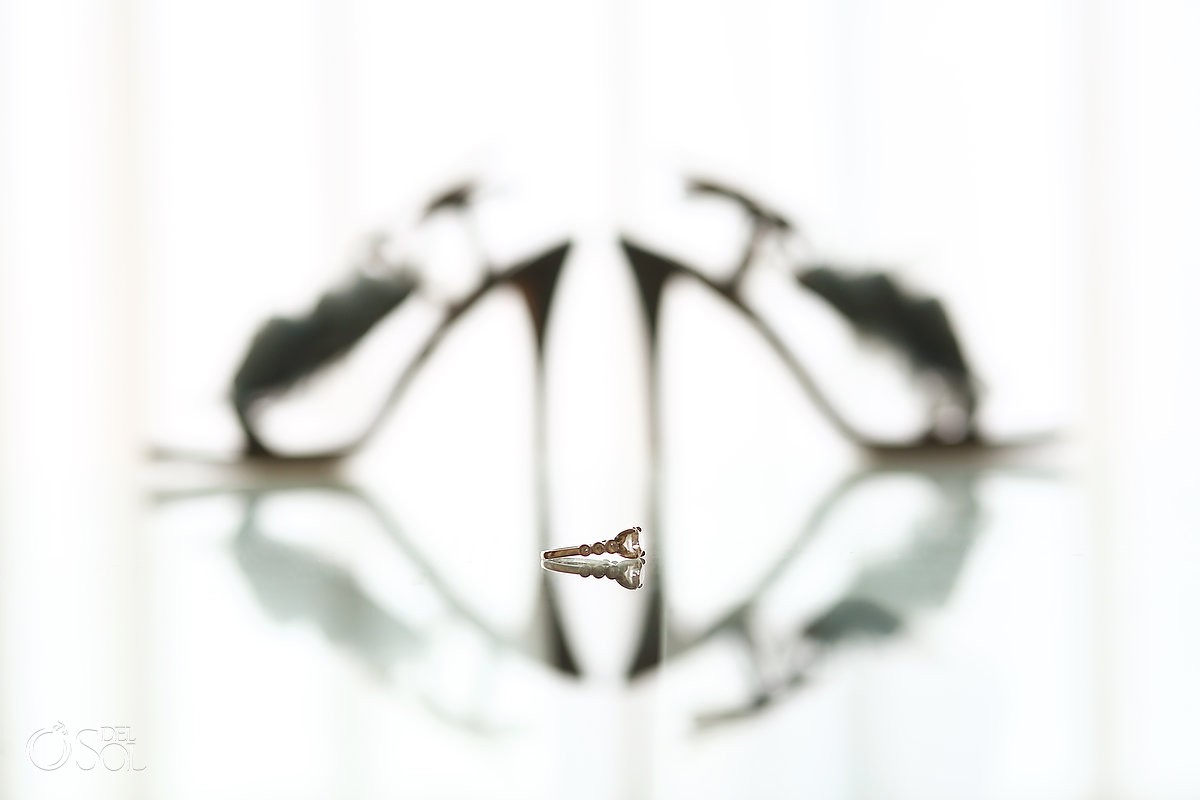 beautiful engagement and wedding rings photos