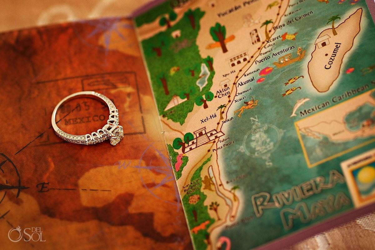 engagement and wedding rings riviera maya mexico