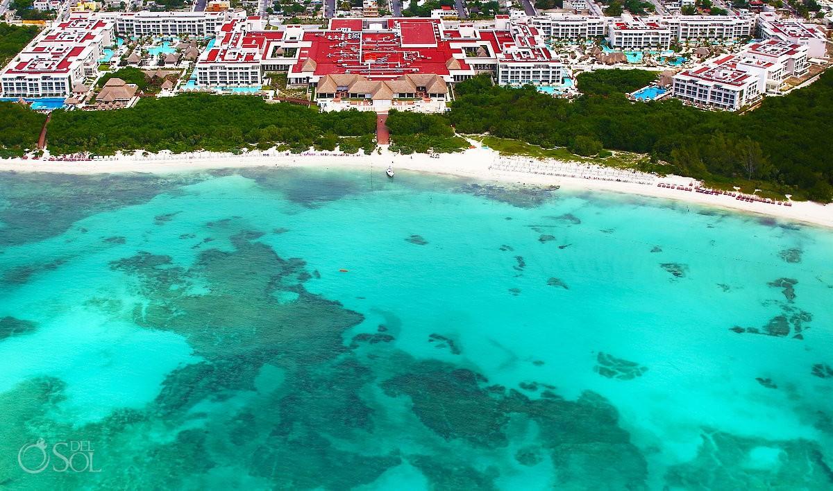 Aerial photo of Paradisus Resort, Playa del Carmen, Mexico by del sol photography