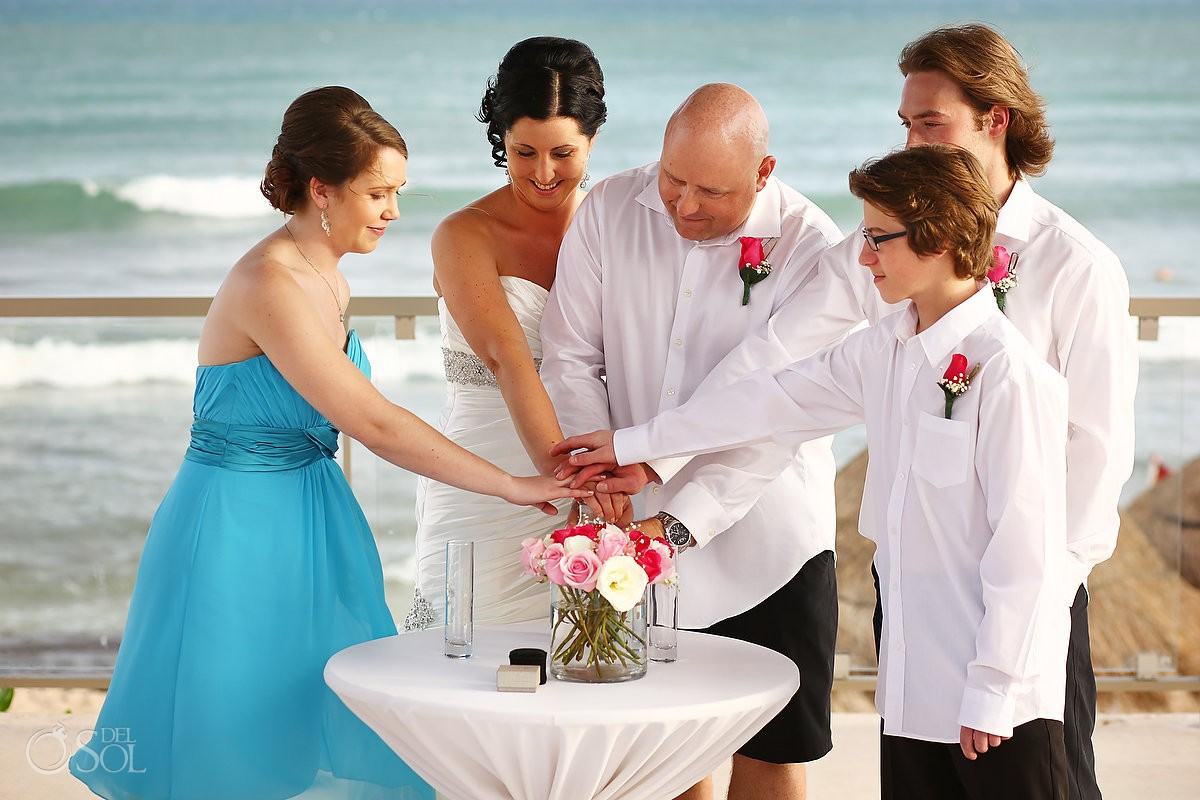 destination wedding photo of family love moment