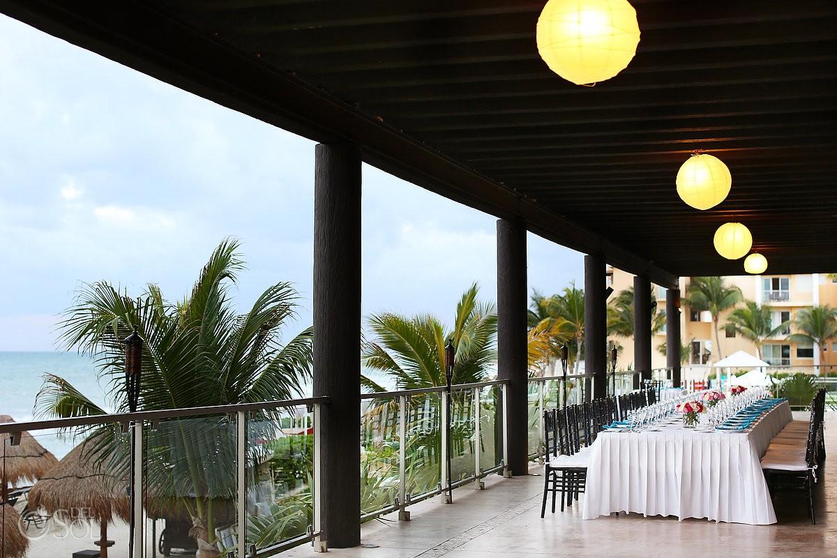 destination wedding reception setup at now jade hotel