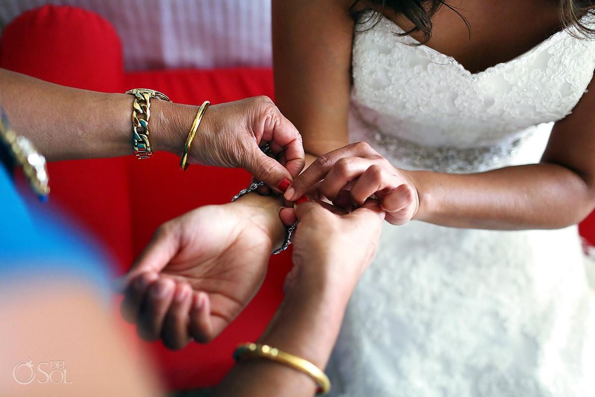 Destination wedding Now Jade Resort bride getting ready