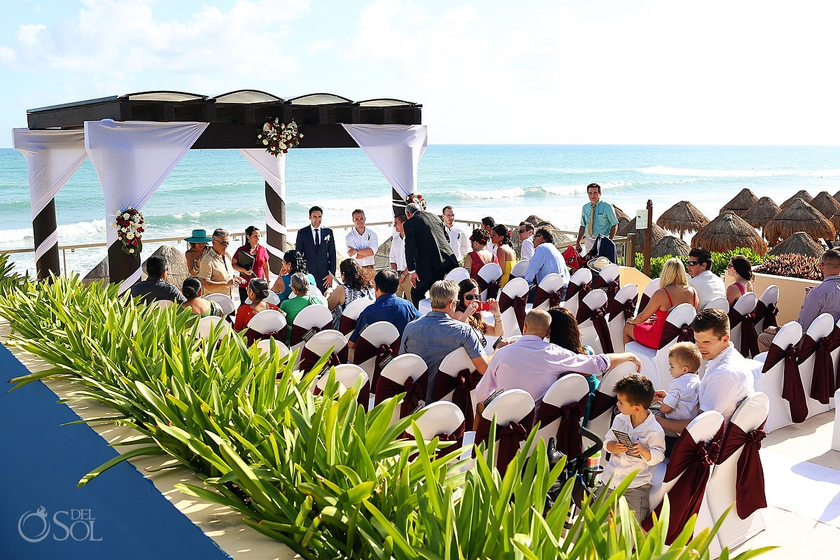 Destination wedding Now Jade ceremony pergola