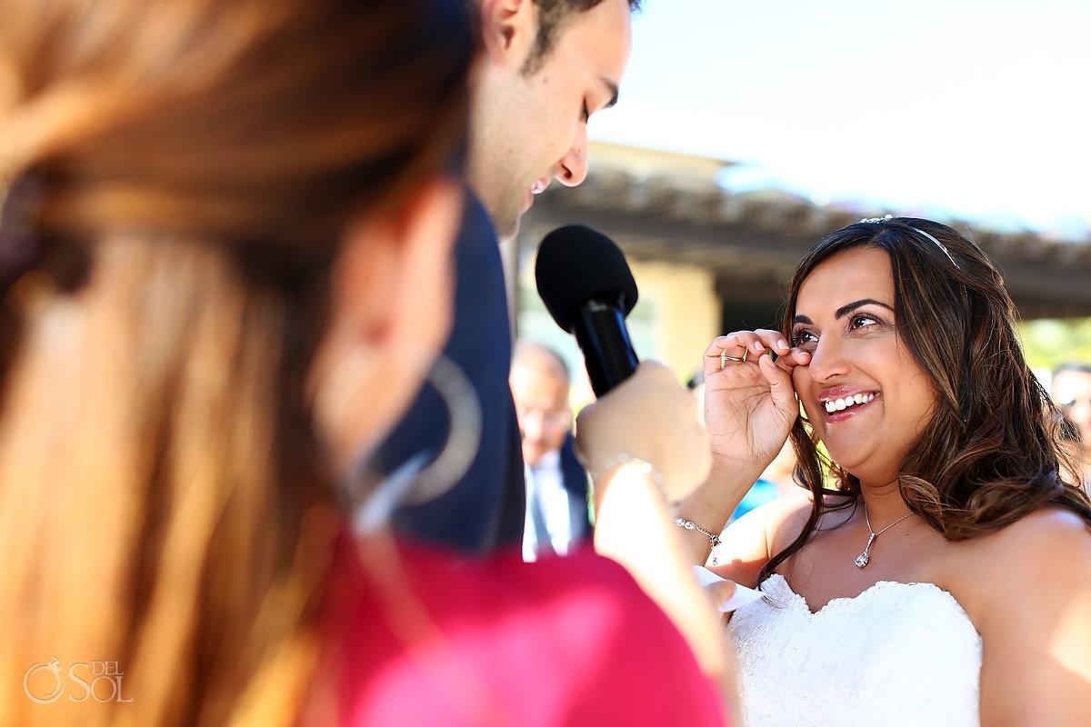 Destination wedding Now Jade Resort Riviera Maya happy bride