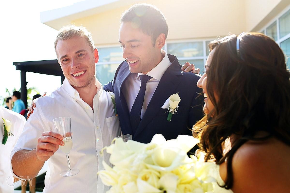 Destination wedding Now Jade resort newlyweds Riviera Maya