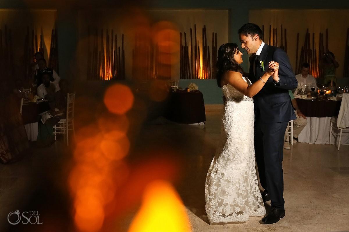 Destination wedding first dance Now Jade Resort Riviera Maya