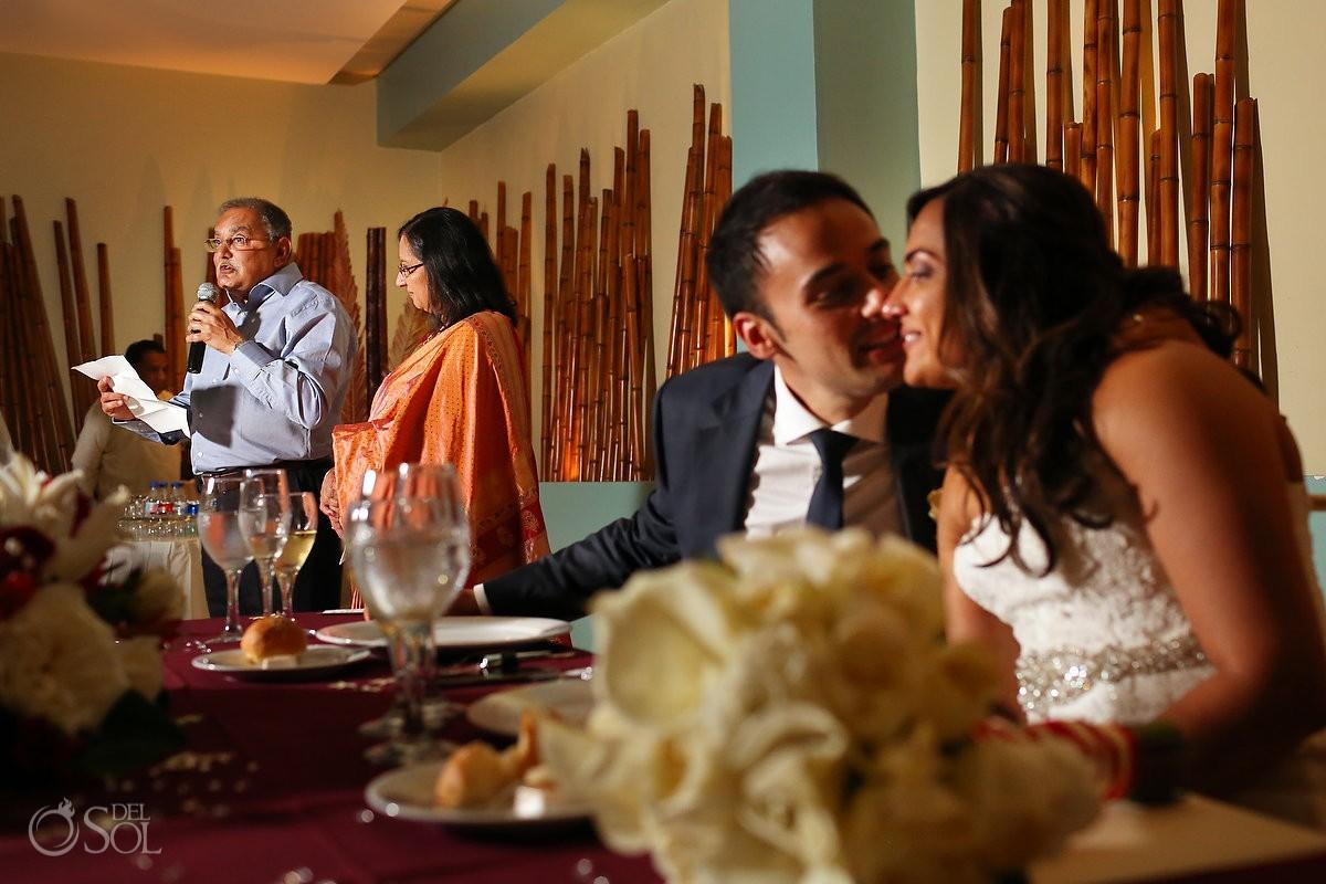 Destination wedding Now Jade Resort Riviera Maya reception