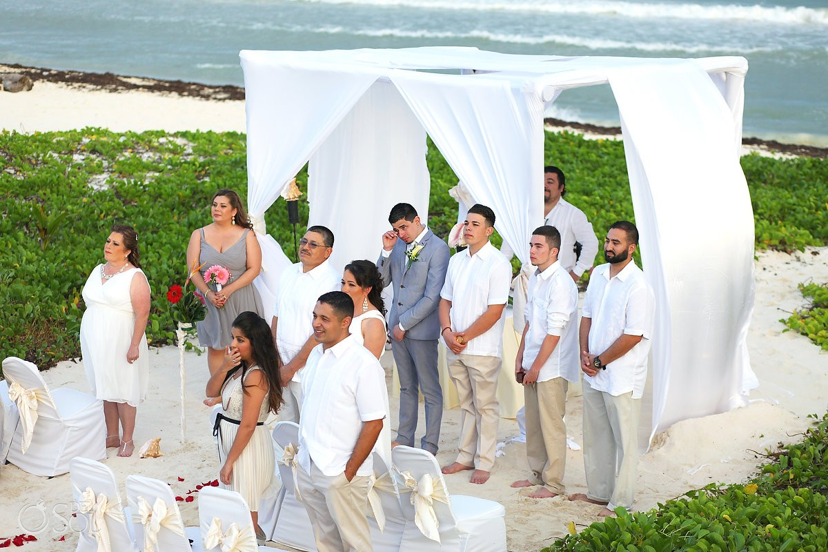 Beach wedding The Reef Playacar Playa del Carmen Mexico