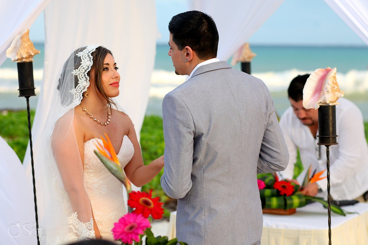 Beach destination wedding The Reef Playacar Playa del Carmen Mexico