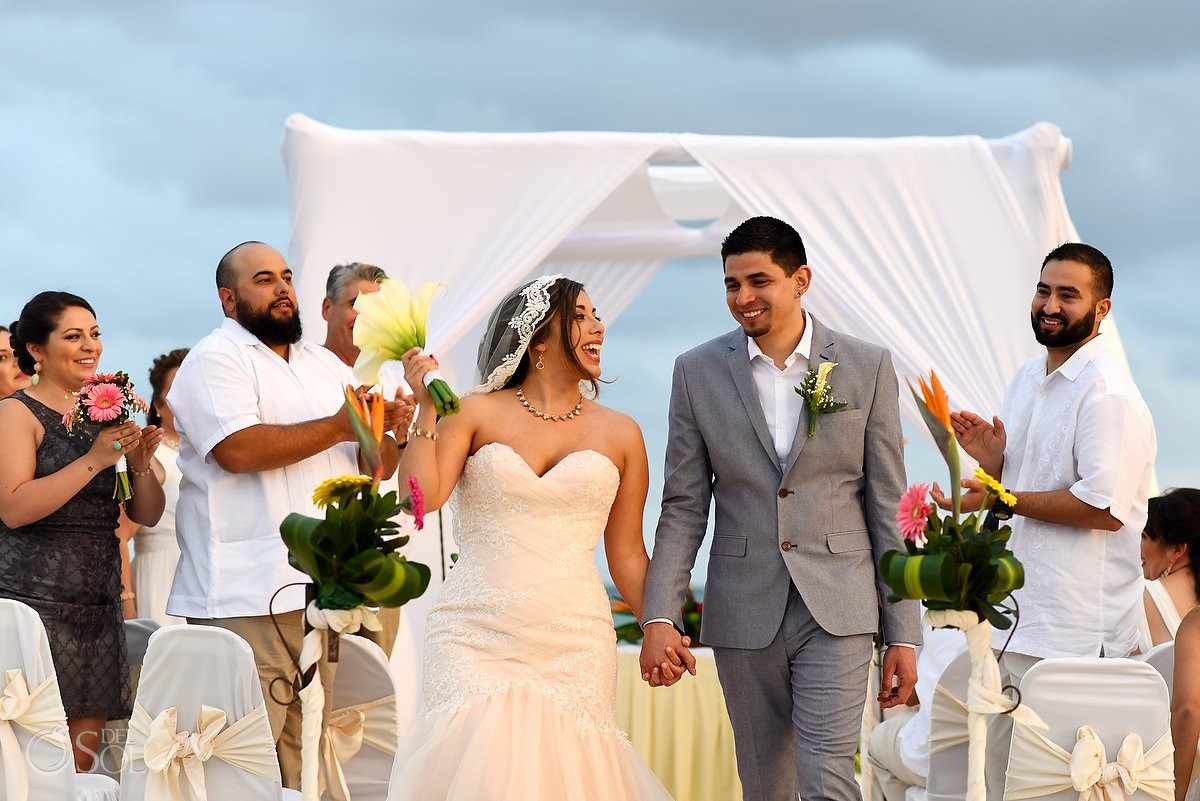 Destination beach wedding The Reef Playacar Playa del Carmen Mexico