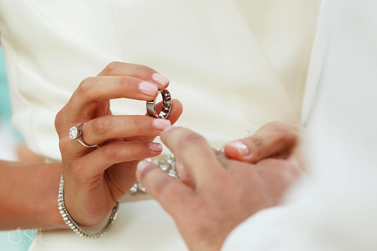 Destination wedding ceremony rings