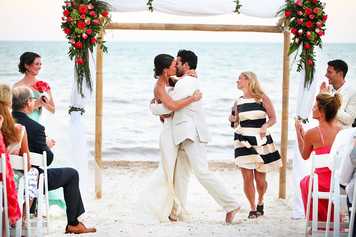 Beach wedding ceremony Riviera Maya Zoetry