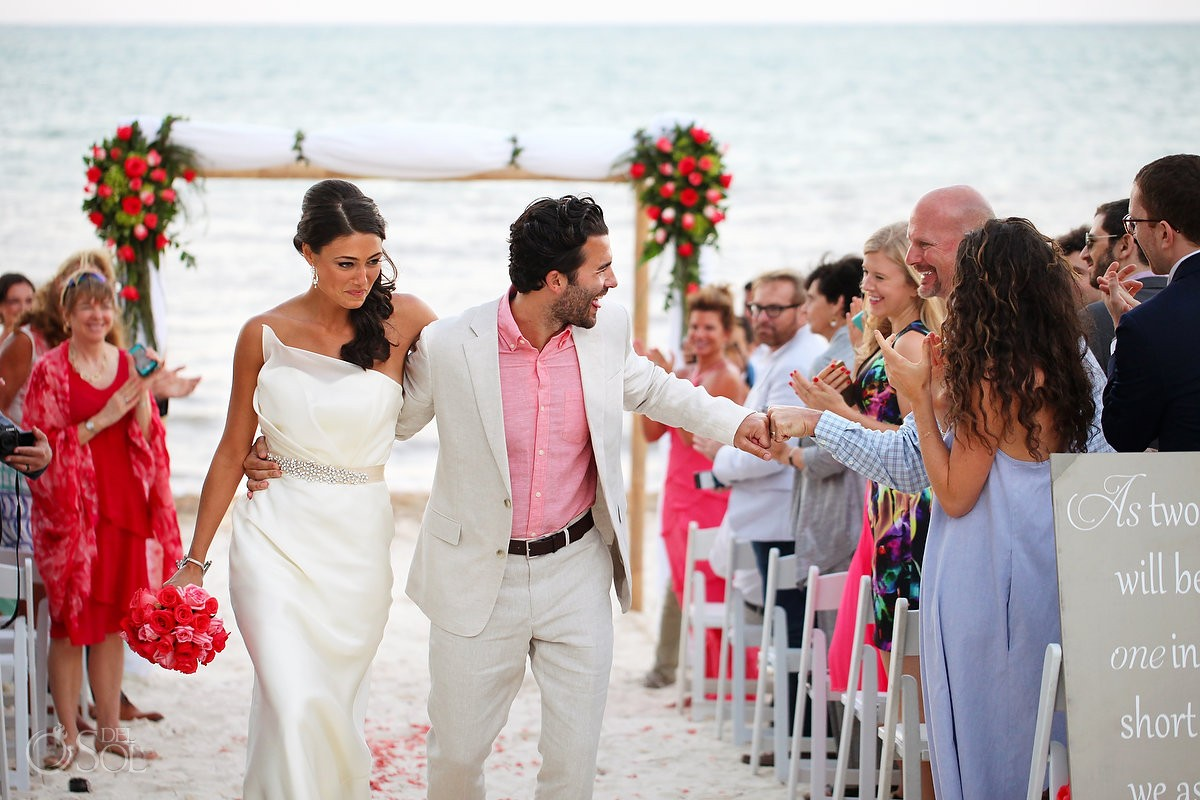 Beach destination wedding Zoetry Riviera Maya