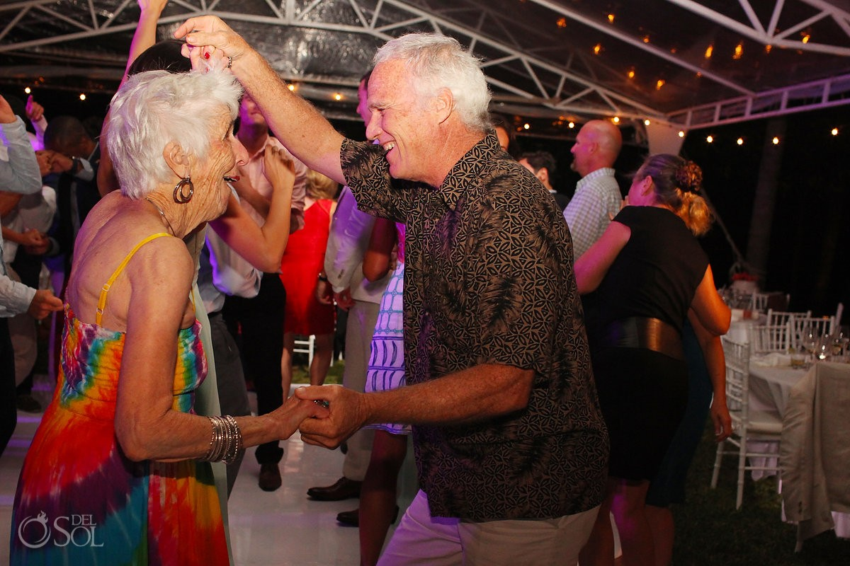 Zoetry Riviera Maya wedding reception dancing