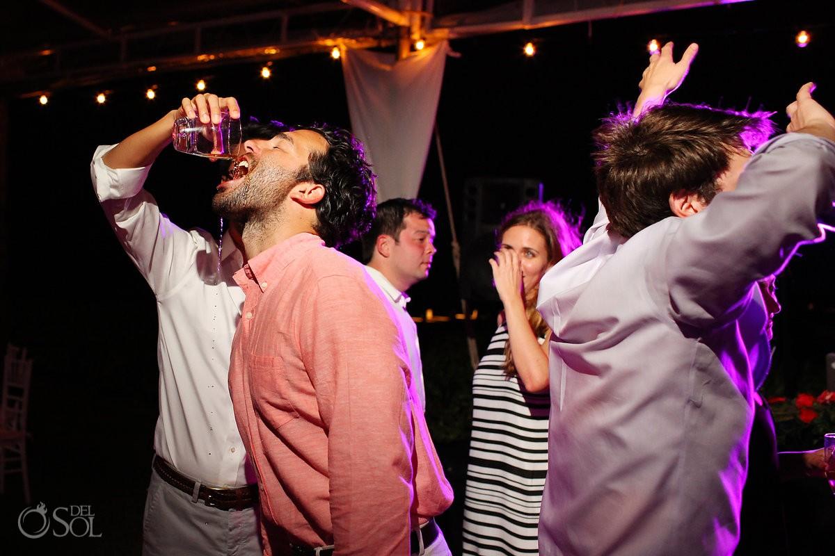 Zoetry Riviera Maya wedding reception drinks