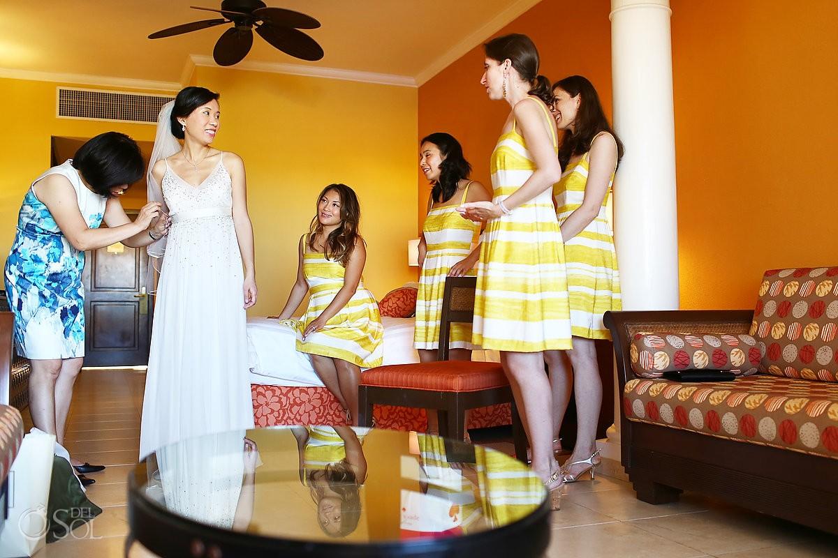 Barcelo Maya Palace destination wedding getting ready room Riviera Maya Mexico