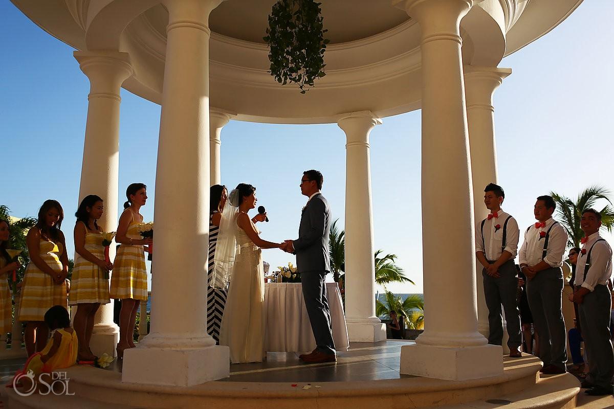 Barcelo Maya gazebo wedding Riviera Maya Mexico