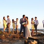 Barcelo Maya wedding party portrait beach