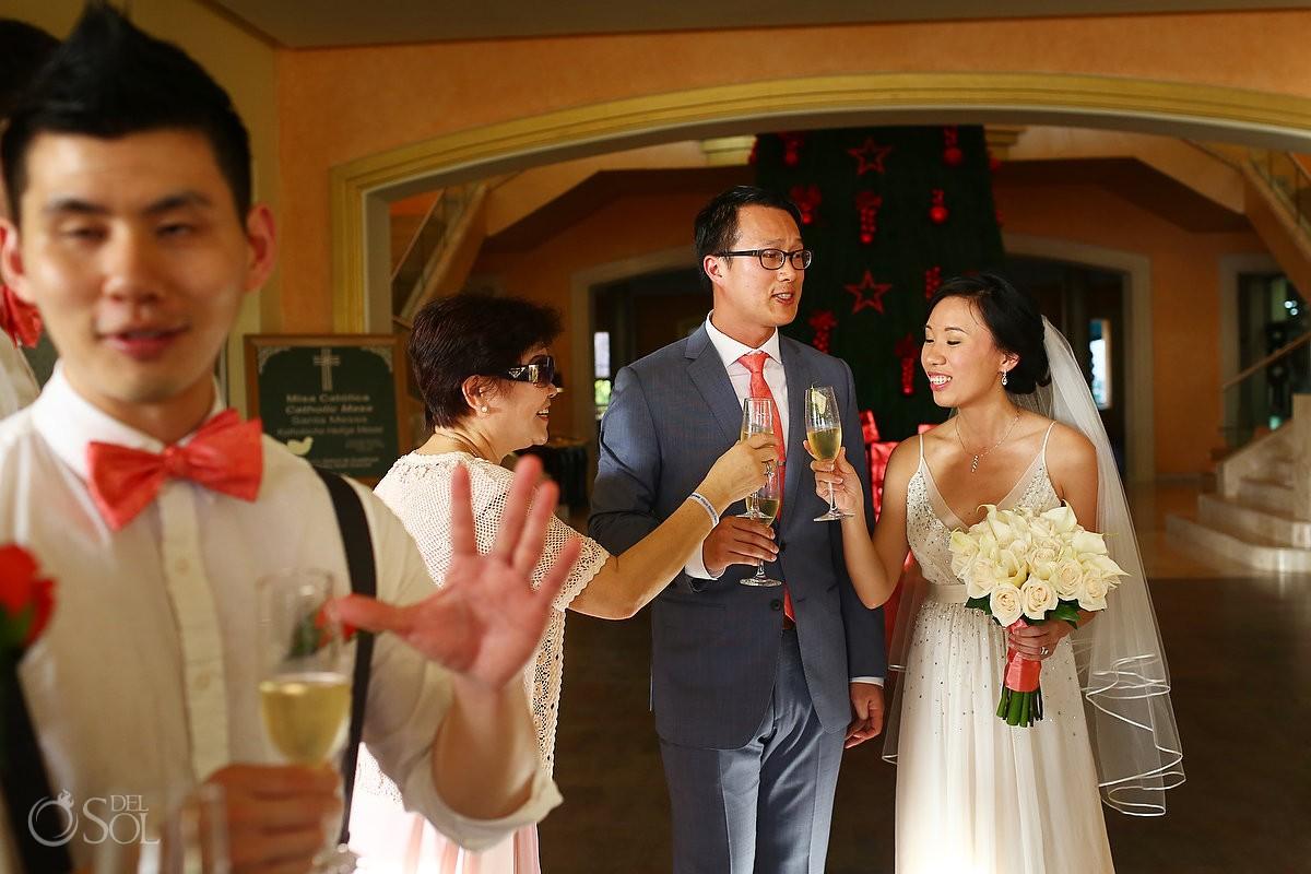 Barcelo Maya wedding newlyweds bride groom Riviera Maya Mexico