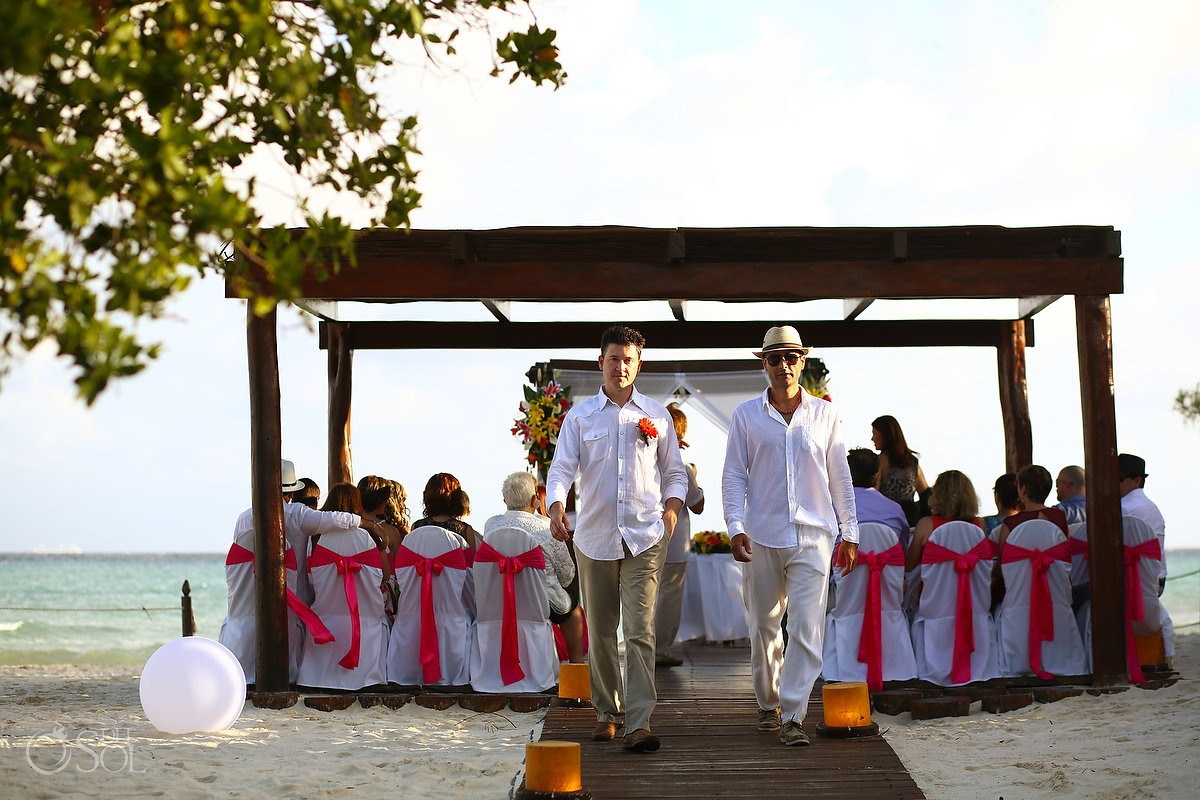 Destination wedding ceremony beach Grand Sunset Princess