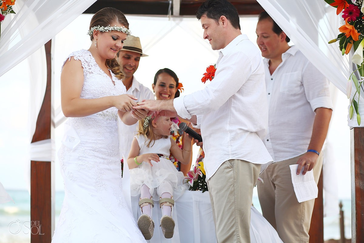 include your children in your wedding ceremony at Grand Sunset Princess