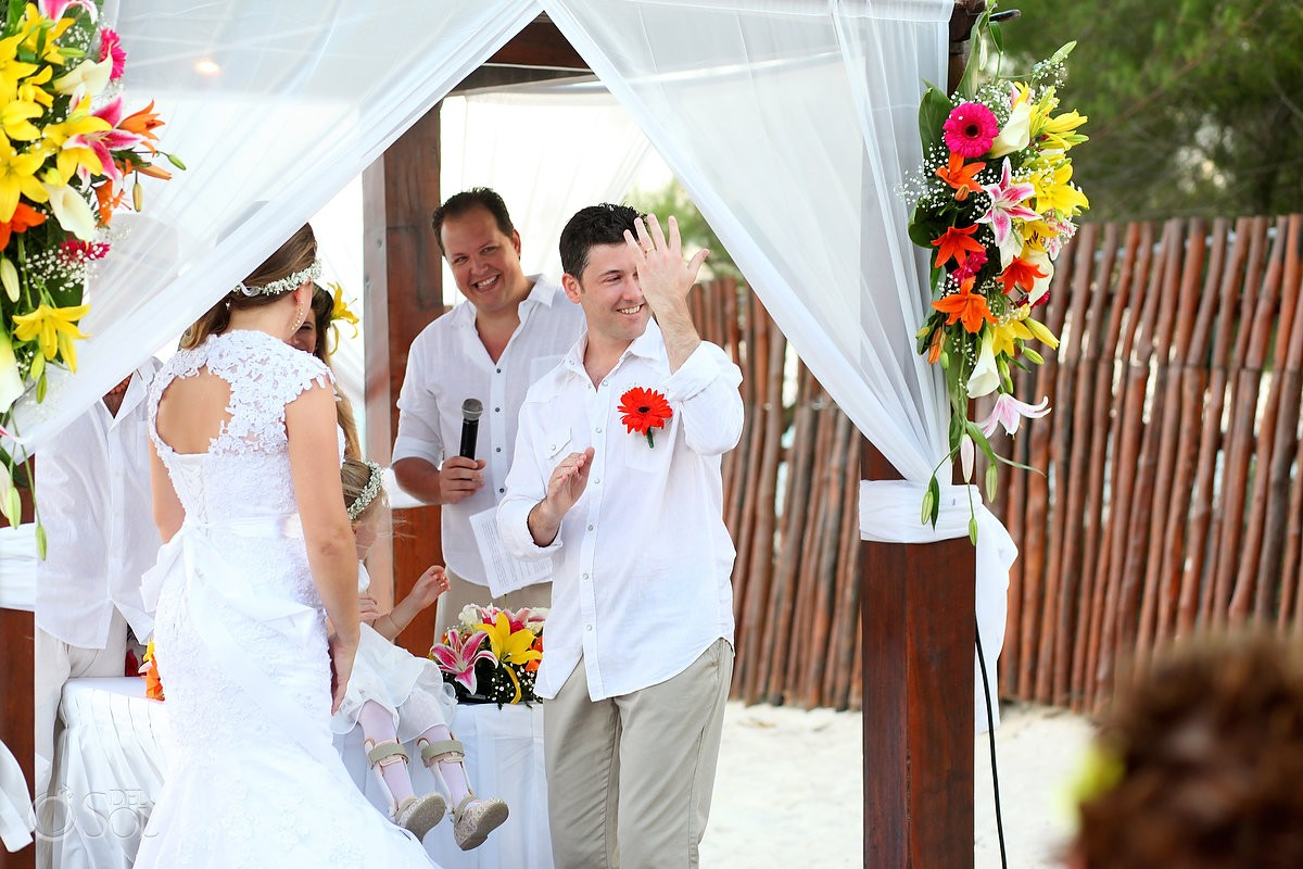 Destination beach wedding ceremony Grand Sunset Princess