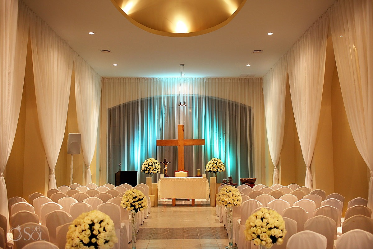 Wedding chapel at the JW Marriott Resort Cancun