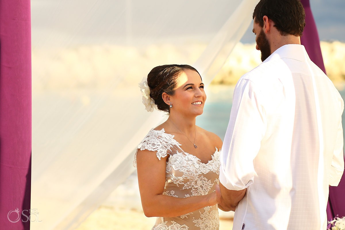 Riviera Cancun wedding at Now Jade Resort ceremony bride groom