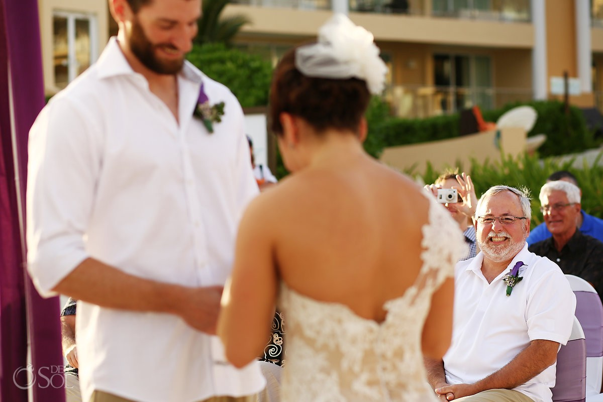 Riviera Cancun wedding at Now Jade beach ceremony