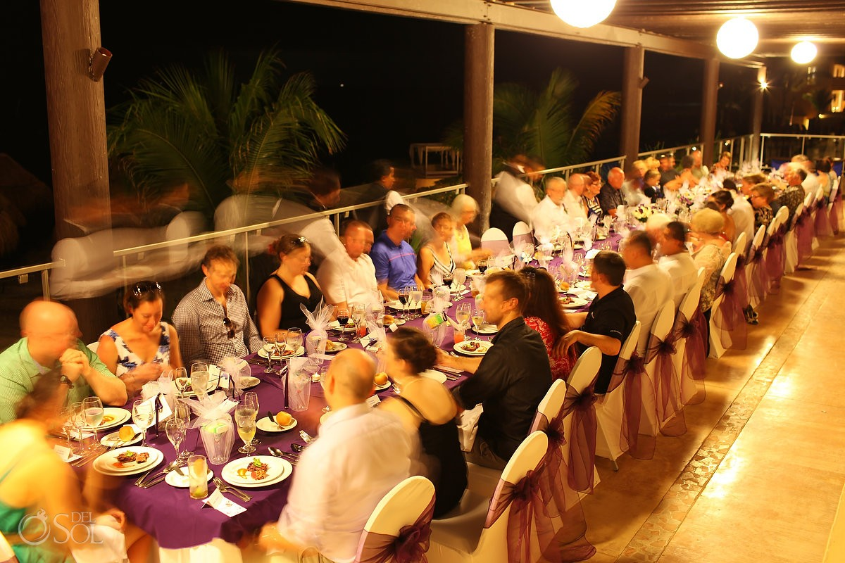 Riviera Cancun wedding reception terrace Now Jade