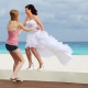 Destination wedding Iberostar Cancun bride beach