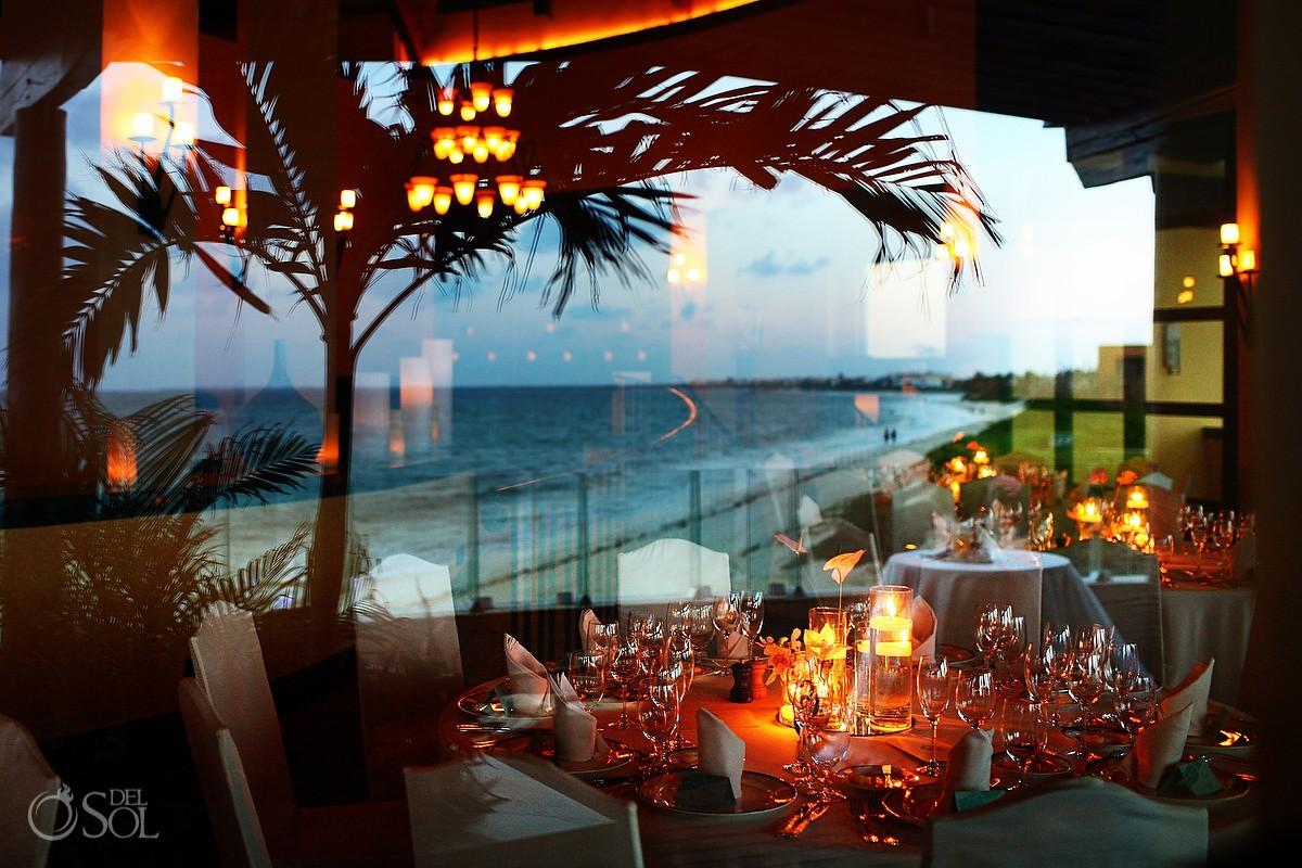 wedding reception in the beautiful Fairmont Mayakoba beach club
