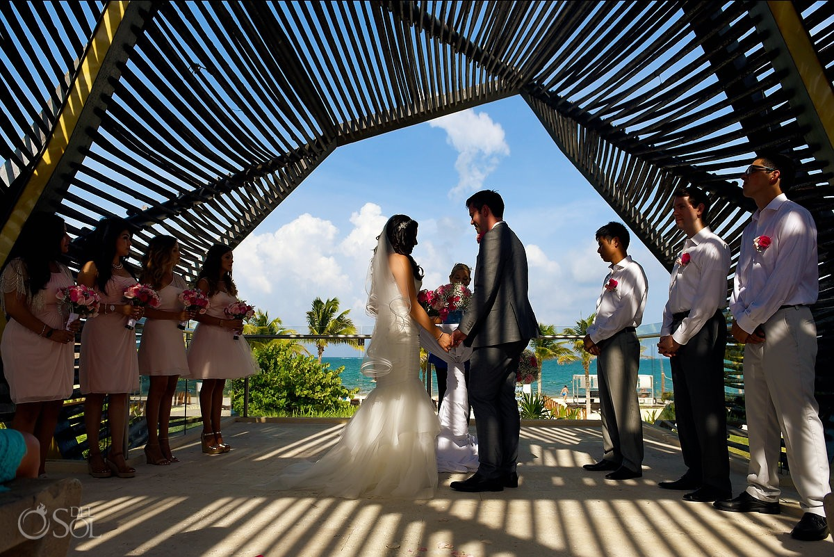 Destination wedding ceremony Royalton Riviera Cancun chapel
