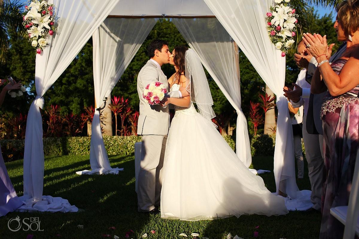 Playa del Carmen wedding ceremony Riu Palace Mexico