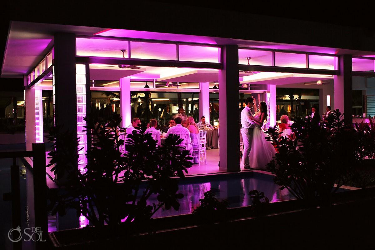 Playa del Carmen wedding reception Riu Palace Mexico
