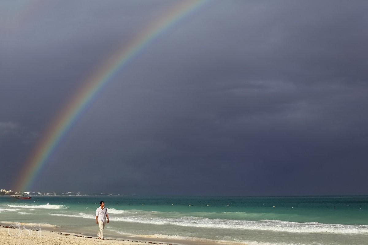 Rainbows at weddings in the riviera maya are amazing