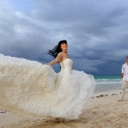 riviera maya wedding bride