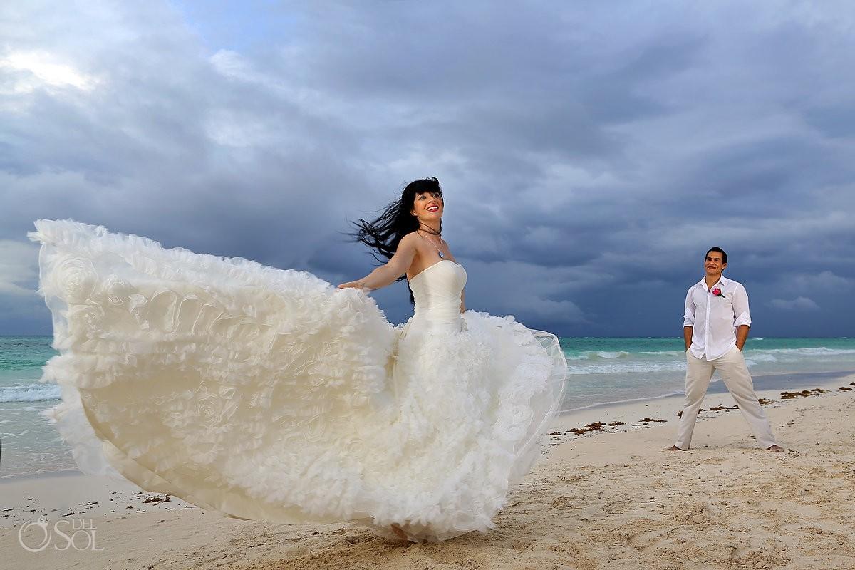 riviera maya wedding bride