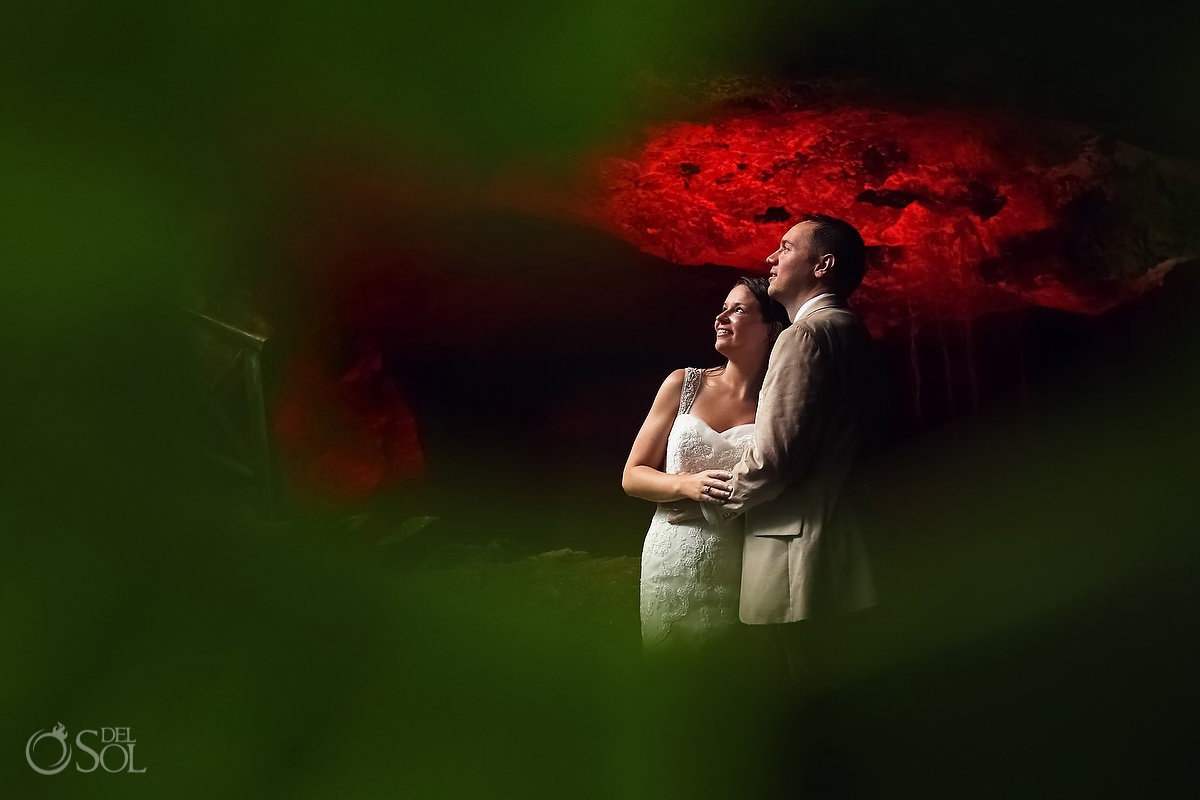 Cenote cave trash the dress Riviera Maya