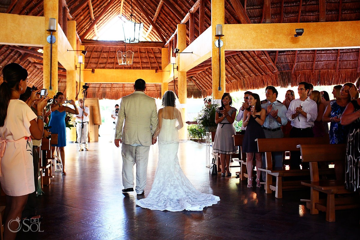 church destination wedding in the Riviera Maya, Mexico