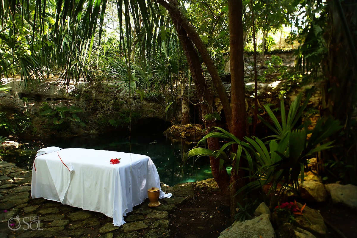 Massage table Chable Resort and Spa, Merida, Yucatan, Colonial boutique hotel