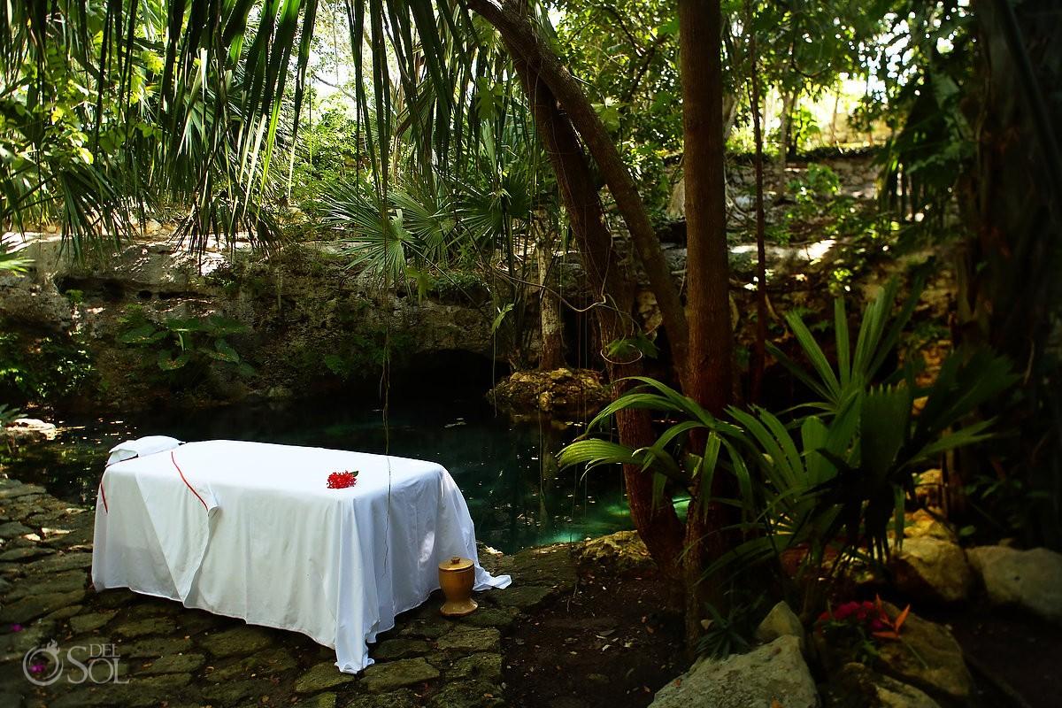 Massage table Chable Resort and Spa, Merida, Yucatan, Colonial boutique hotel #ExperienciasInfinitas