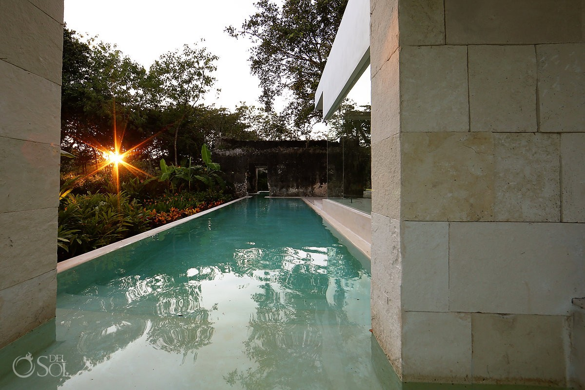 Plunge Pool, contemporary in the middle of the jungle at Chable Resort Merida Yucatan
