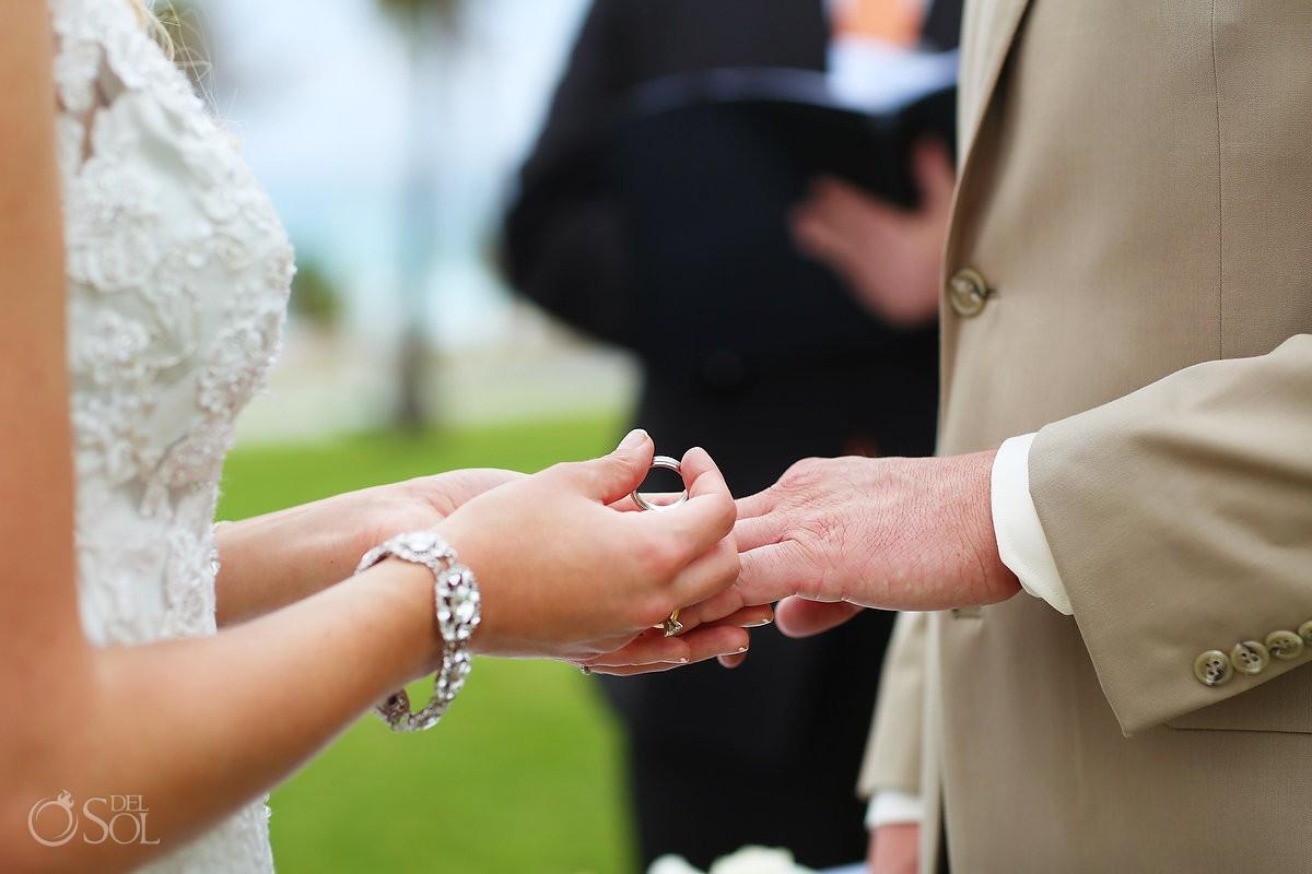wedding ring exchange at Iberostar cancun