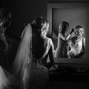Bride at Iberostar cancun in wedding gown by Allure bridal